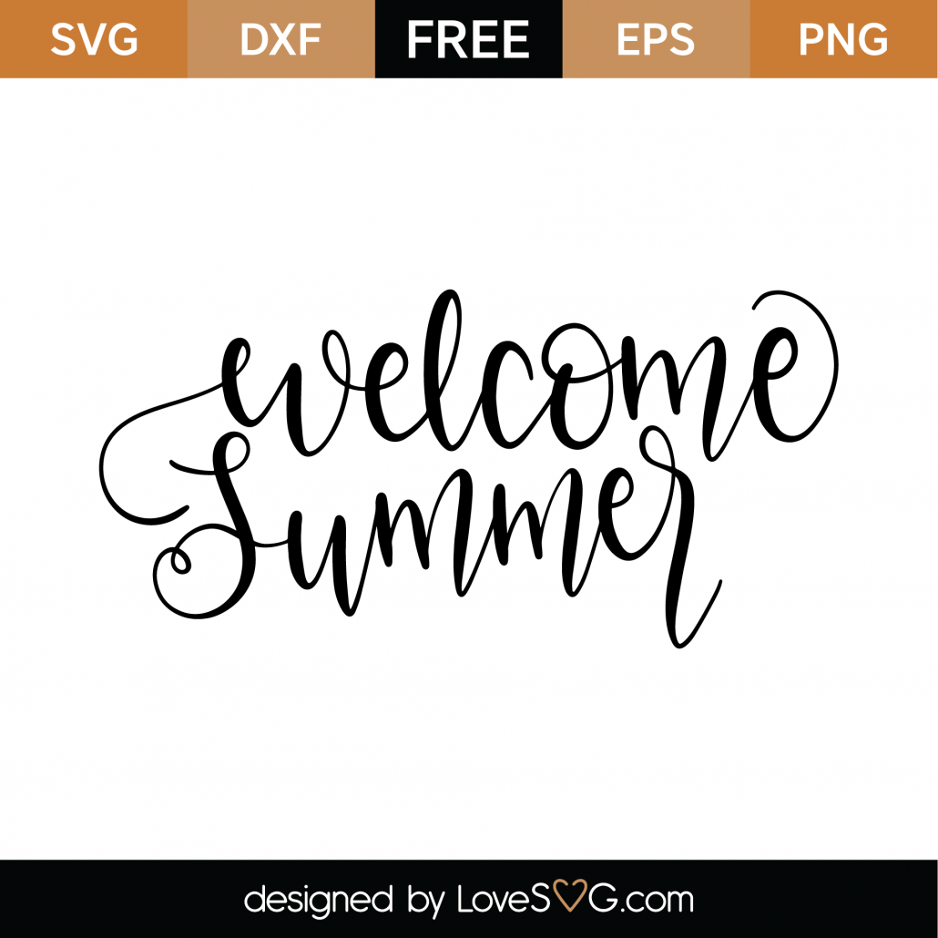 Welcome Summer SVG Cut File 9538