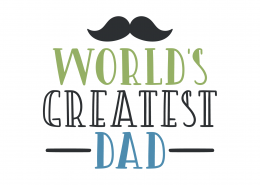 World's Greatest Dad SVG Cut File 9505
