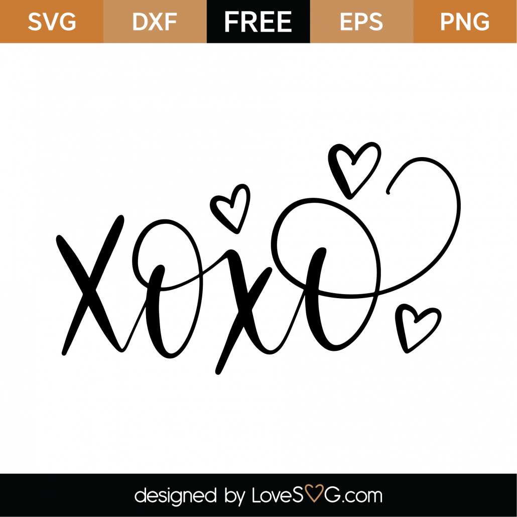 XOXO SVG Cut File 9550