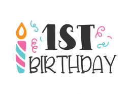 1st Birthday SVG Cut File 9758