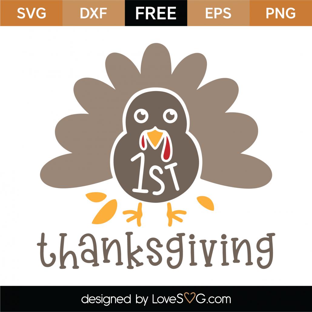 1st Thanksgiving SVG Cut File 9730