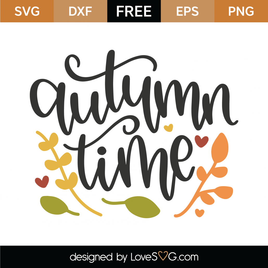 Autumn Time SVG Cut File 9773