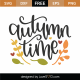 Autumn Time SVG Cut File 9773