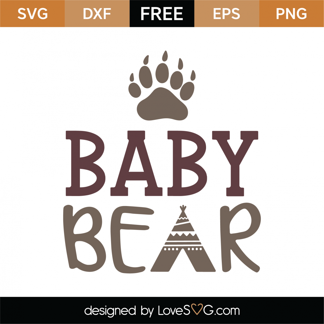 Baby Bear SVG Cut File 9768