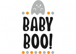 Baby Boo SVG Cut File 9800