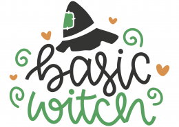 Basic Witch SVG Cut File 9806