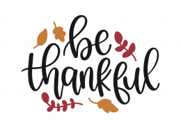 Be Thankful SVG Cut File 9729