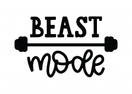 Beast Mode SVG Cut File 9753