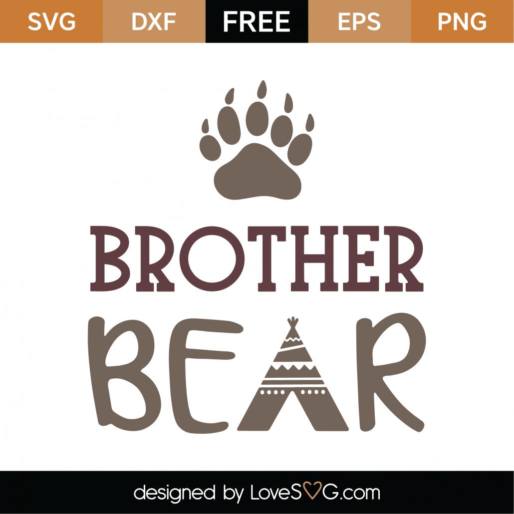 Brother Bear SVG Cut File 9769