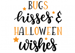 Bugs Kisses and Halloween Wishes SVG Cut File 9807