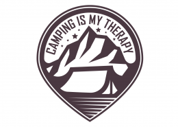 Camping Is My Therapy SVG Cut File 9678