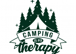 Camping Is My Therapy SVG Cut File 9682