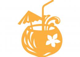 Coconut Cocktail SVG Cut File 9692