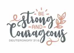 Deuteronomy 31-6 SVG Cut File 9670