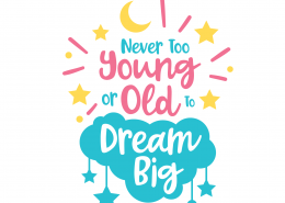 Dream Big SVG Cut File 9697