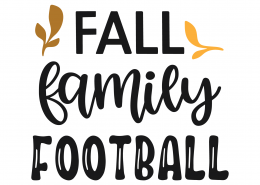 Fall Family Football SVG Cut File 9797