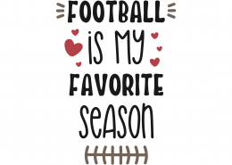 Football Is My Favorite Season SVG Cut File 9799