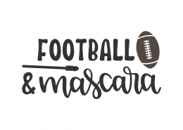 Football and Mascara SVG Cut File 9798