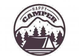 Happy Camper SVG Cut File 9675