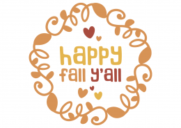 Happy Fall Y'all SVG Cut File 9732