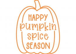 Happy Pumpkin Spice Season SVG Cut File 9779