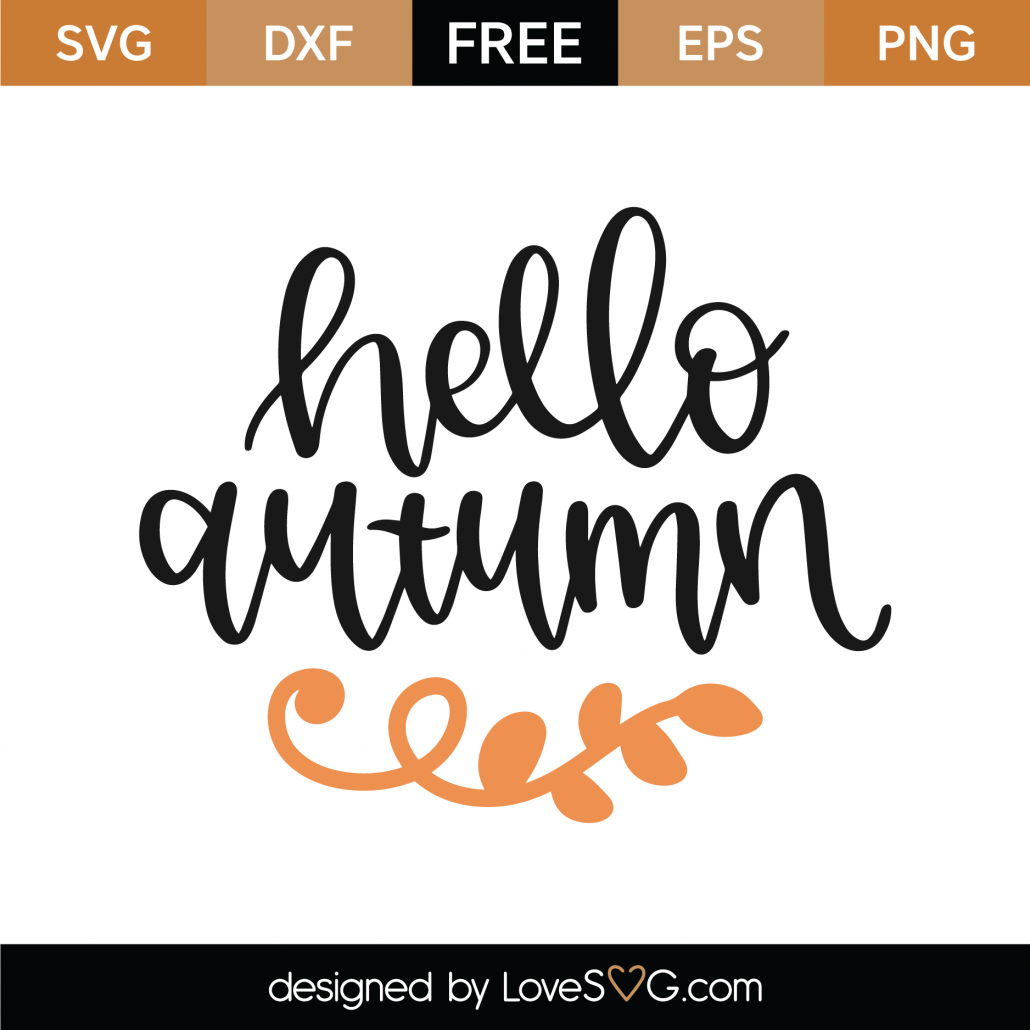 Hello Autumn SVG Cut File 9733