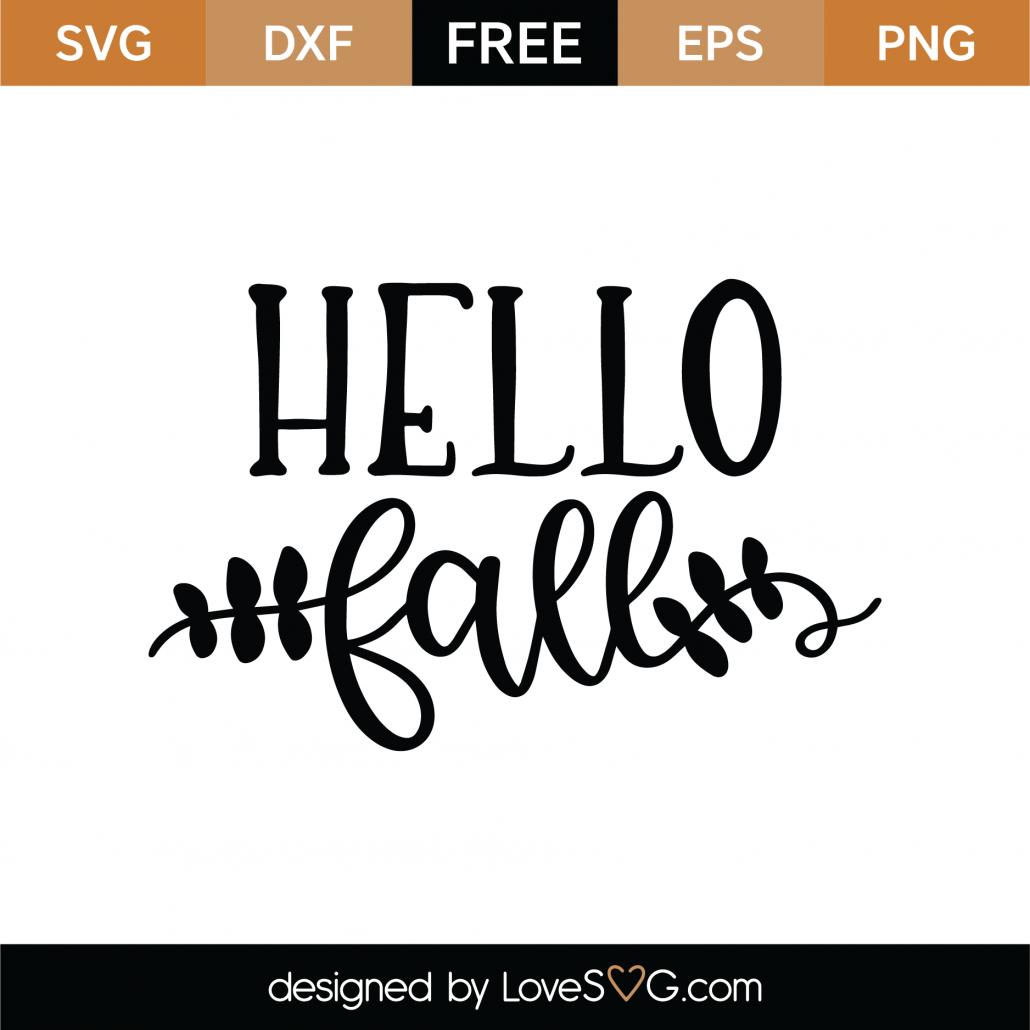 Hello Fall SVG Cut File 9742