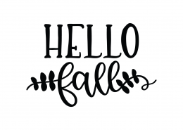 Hello Fall SVG Cut File 9742