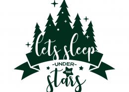 Let's Sleep Under The Stars SVG Cut File 9690