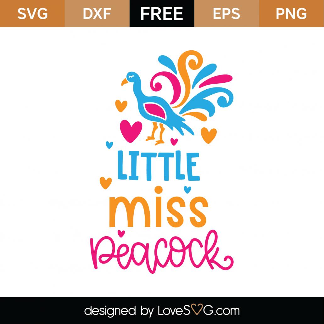 Little Miss Peacock SVG Cut File 9725