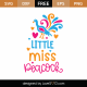Little Miss Peacock SVG Cut File 9725
