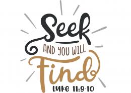 Luke 11-9-10 SVG Cut File 9651