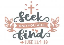 Luke 11-9-10 SVG Cut File 9661
