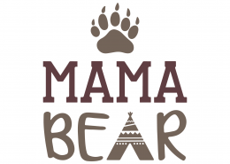 Mama Bear SVG Cut File 9766