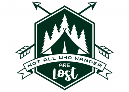 Not All Who Wander SVG Cut File 9686