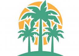 Palm Trees SVG Cut File 9702