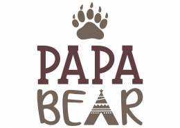 Papa Bear SVG Cut File 9767