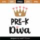 Pre-K Diva SVG Cut File 9723