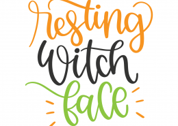 Resting Witch Face SVG Cut File 9812
