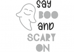 Say Boo and Scary On SVG Cut File 9791