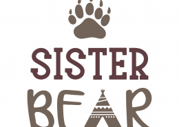 Sister Bear SVG Cut File 9777