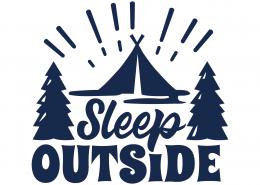 Sleep Outside SVG Cut File 9662