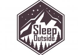 Sleep Outside SVG Cut File 9677