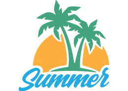 Summer Palm Trees SVG Cut File 9705
