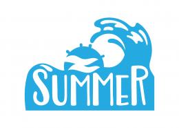 Summer Waves SVG Cut File 9696