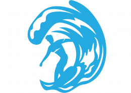 Surfer SVG Cut File 9700