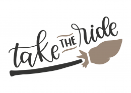 Take The Ride SVG Cut File 9814
