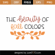 The Beauty Of Fall Colors SVG Cut File 9772
