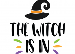 The Witch Is In SVG Cut File 9815