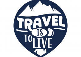 Travel Is To Live SVG Cut File 9673